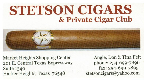 stetsons cigars card